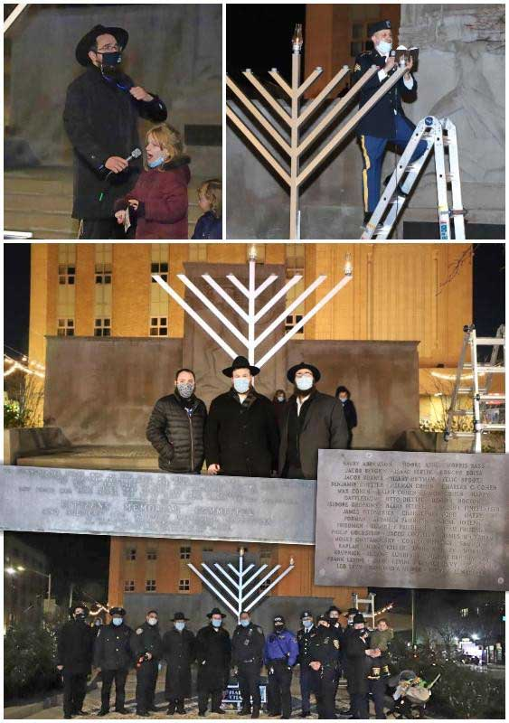 Brownsville Rekindles, Honors Jewish Past On the first night of Chanukah, the reborn community of Brownsville held a public menorah lighting at the Zion Triangle where a monument honors Brownsville's fallen Jewish soldiers in WWI.