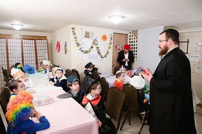 Purim children rally in the Brownsville NY Jewish community